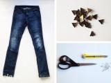 Biến chiếc jean dài thành denimshort cực cute