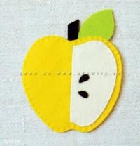 Hay quả táo màu vàng cũng rất xinh xắn: