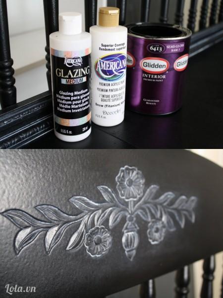 Đợi cho keo khô thì bạn dùng nước sơn sơn phủ lên trên bề mặt của toàn bộ gỗ nhé