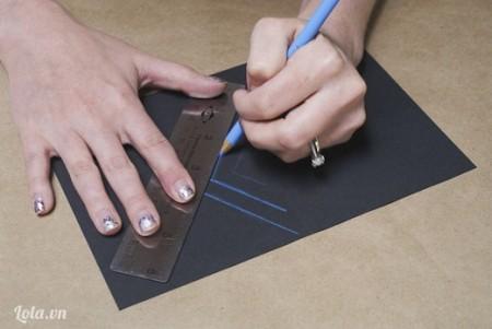 Kẽ các đường hình mũi tên như hình