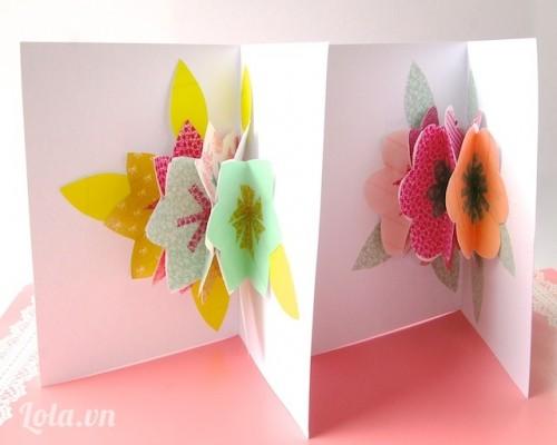 DIY Thiệp Pop_up hình bó hoa