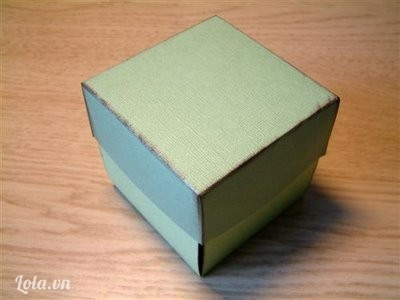 Làm tiếp tương tự để có được nắp hộp
