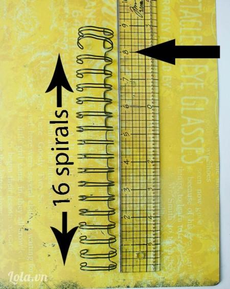 Bạn đo cây xoắn ốc khoảng tầm 16 đoạn nhỏ như hình