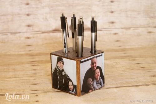 DIY hộp đựng bút bằng gỗ