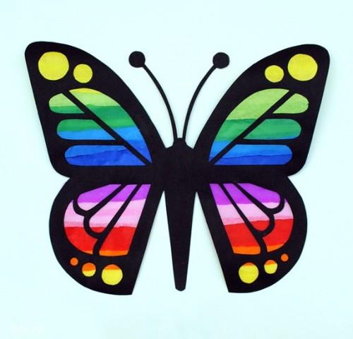 DIY bướm cầu vòng