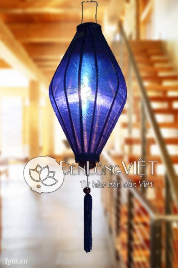 Đèn lồng lụa Hội An kiểu quả trám