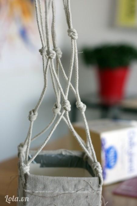 Tất cả các dây sau khi cột gút như sau