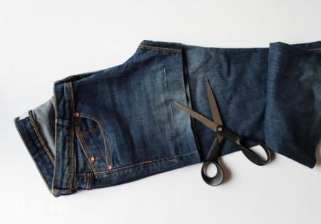 Gập đôi chiếc quần lại,cắt chiếc quần dài ngắn theo sợ thích của bạn