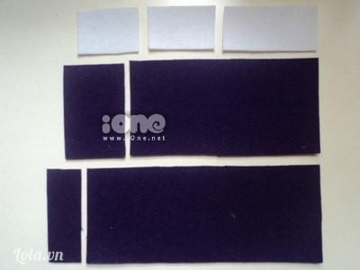 Thân hộp bút gồm 1 hình chữ nhật dài khoảng 20cm, 1 hình chữ nhật nữa bằng 4/5 hình chữ nhật vừa rồi cùng 2 hình chữ nhật nhỏ hơn để làm nắp đậy.