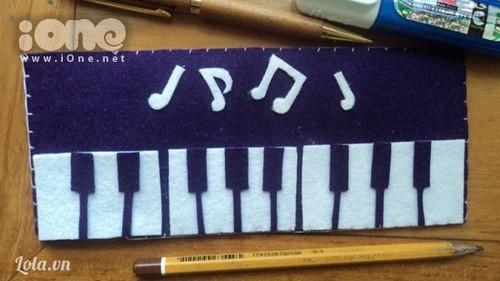 Hộp bút đàn piano theo bạn đến trường