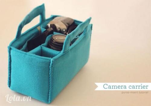 Tự làm túi xách cho máy ảnh