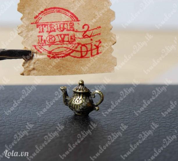 Mặt đồng hình ấm trà Mã hàng C190507