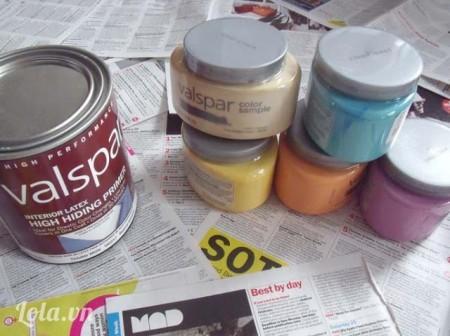 Chuẩn bị sơn đủ màu