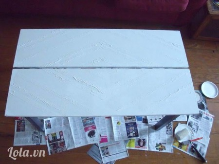 Đợi cho sơn khô trong vài giờ