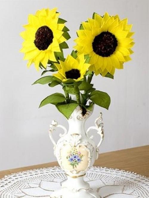 Hoa hướng dương bằng giấy