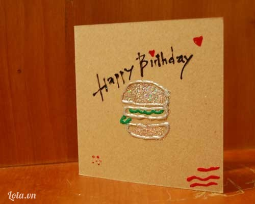 thiệp handmade sinh nhật vui vẻ