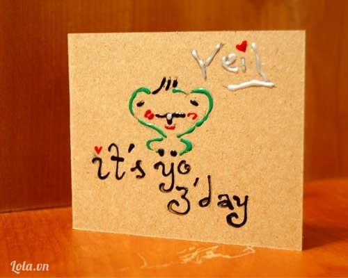 thiệp handmade your day