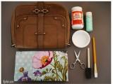 Trang trí túi xách vintage