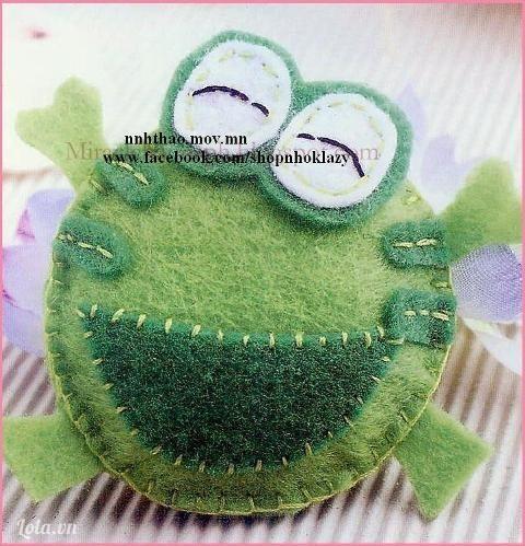 Vải nỉ: may bé ếch vui vẻ