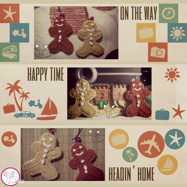 ♥ St.04 ♥ Móc đi động/móc khóa bánh quy gừng (Gingerbread)