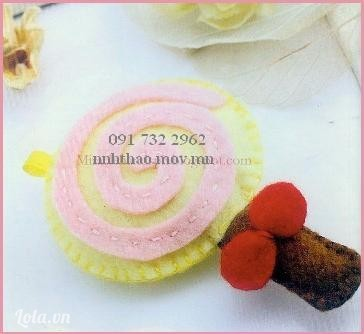 Vải nỉ: may kẹo mút ngọt ngào