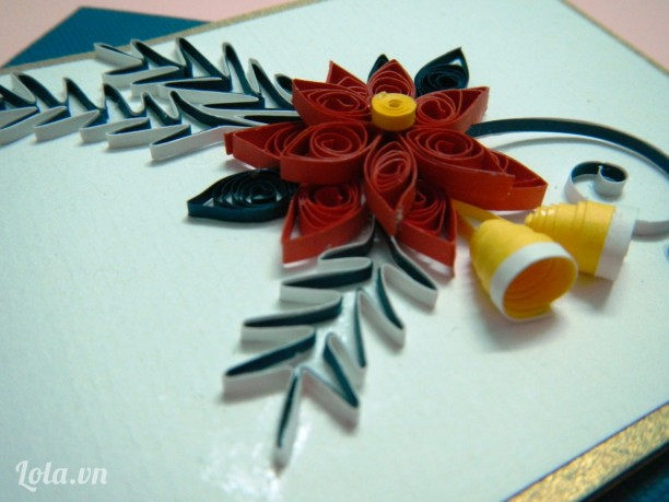 Thiệp Giáng Sinh Quilling