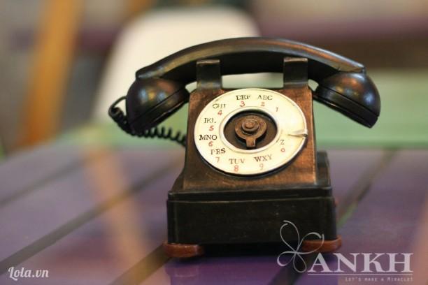 mô hình điện thoại cổ
