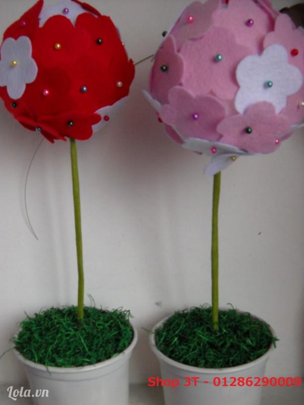 Quả cầu hoa handmade