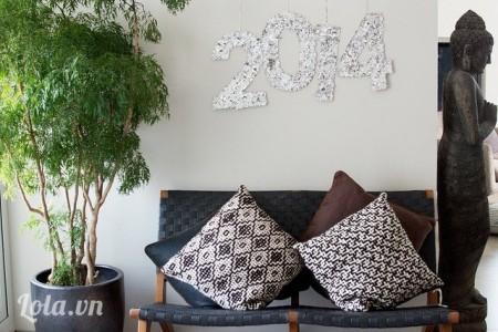 Căn phòng khách nhà bạn được trang trí đón năm mới thật là độc đáo phải không nào?Chúc các bạn thành công!
