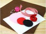 Làm móc khóa vải nỉ kiêm ví handmade tiện dụng