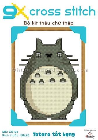 Bộ kit thêu chữ thập Totoro tốt bụng kute <3