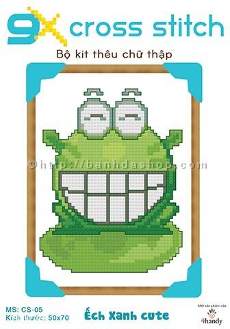 Bộ kit thêu chữ thập ếch xanh Keroro cũng rất xinh xắn