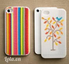 Ốp iphone cross-stitch cây và chim rất dễ thương phải không <3