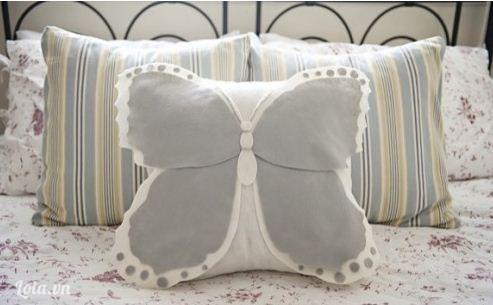 Làm gối handmade vải nỉ hình chú bướm đáng yêu