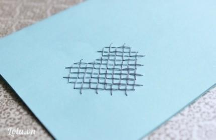 Làm thiệp cross-stitch đơn giản bất ngờ