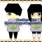 Mô hình giấy chibi theo yêu cầu : Couple