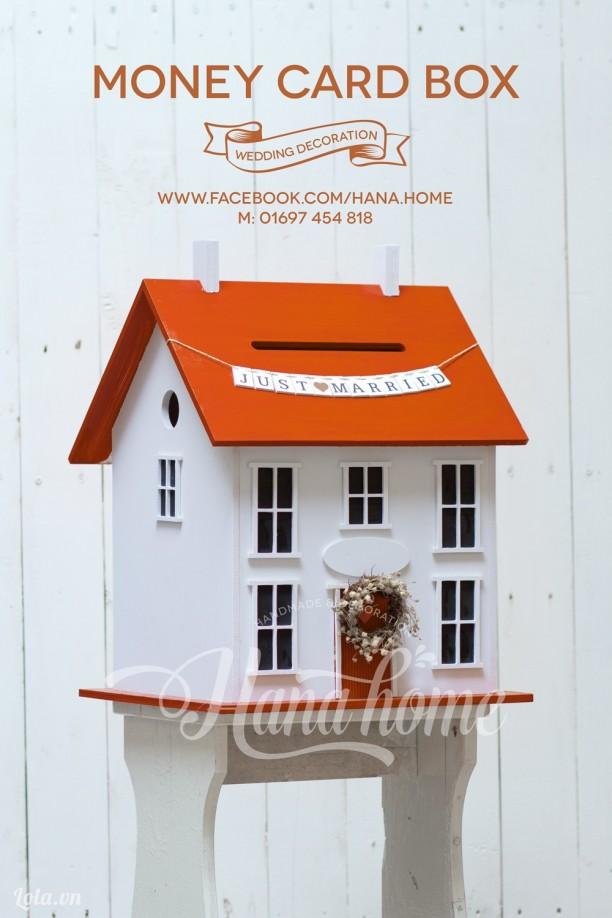 Money card box - Thùng song hỷ ( màu cam)