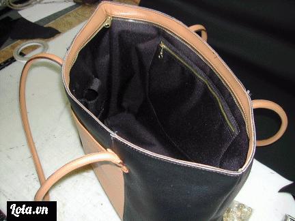 Phần bên trong của túi sau khi đã hoàn thiện nè.