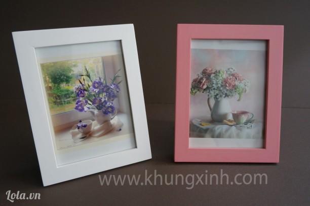 Khung Trang Trí tiệc cưới - Bộ 2 khung trắng- hồng