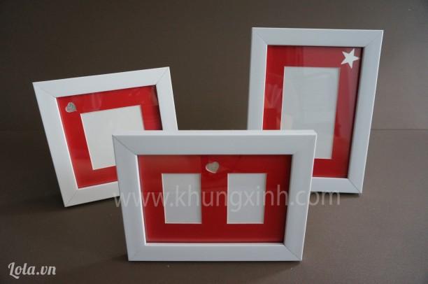 Khung Trang Trí tiệc cưới - Bộ 3 khung bo đỏ