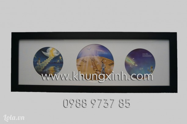 Khung thiết kế - Khung bo tròn 3 hình panorama