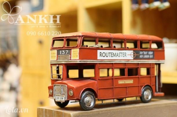 London bus 2 tầng cổ điển Handmade