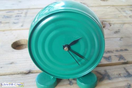 Làm đồng hồ bàn handmade