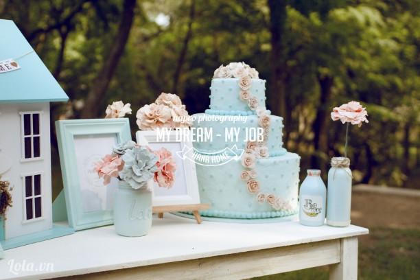 Lọ thuỷ tinh trang trí bàn tiệc cưới