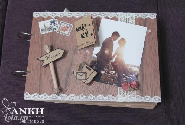 Album cưới ký tên handmade