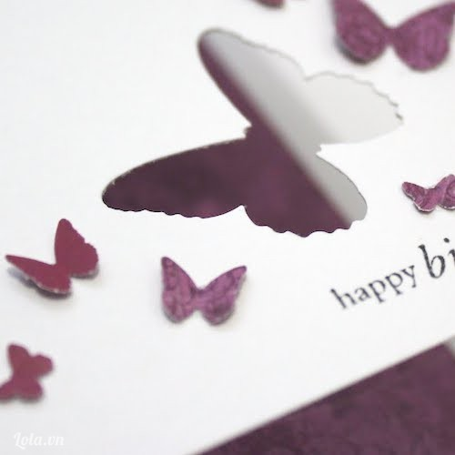 Bấm cắt giấy bươm bướm mini