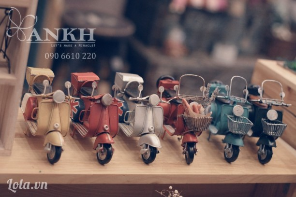 Mô hình xe vespa cổ - handmade