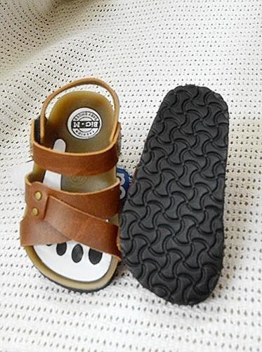Bộ 3 giày sandal ( giày da mọi, giày da quai ngang, giày da quai chéo)