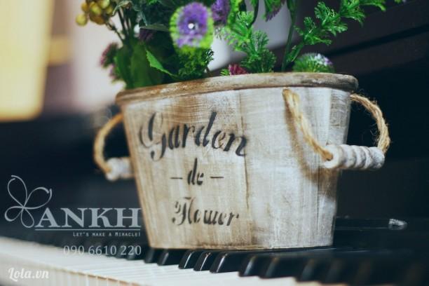 Chậu gỗ garden phong cách vintage