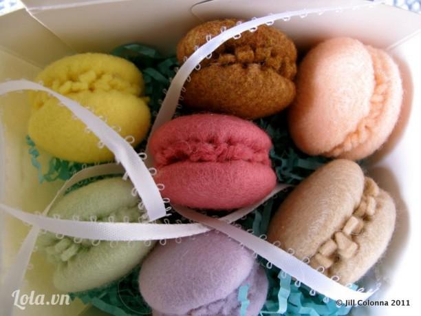 Bánh Macaron vải nỉ